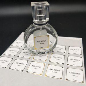 etiqueta perfume